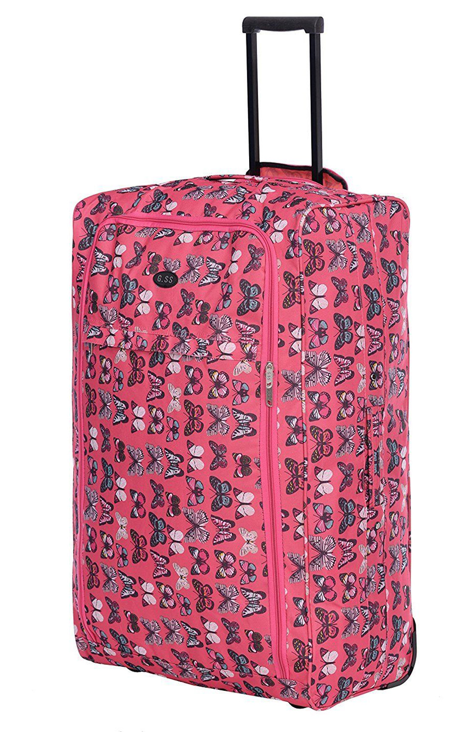 Pink Butterfly Suitcase Luggage Heaven